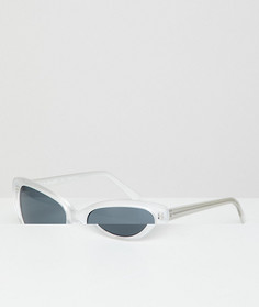Белые солнцезащитные очки кошачий глаз AJ Morgan - Белый