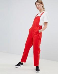 Красный джинсовый комбинезон ASOS DESIGN - Красный