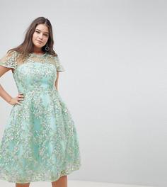 Платье миди с пайетками ASOS EDITION Curve - Зеленый