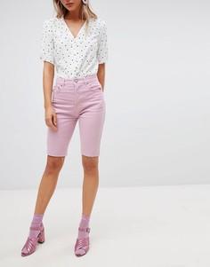 Сиреневые джинсовые шорты ASOS DESIGN - Фиолетовый
