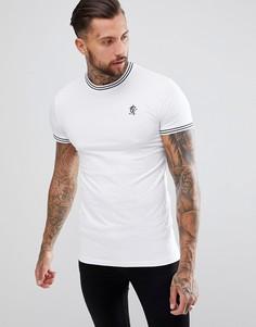Обтягивающая футболка с контрастной отделкой Gym King - Белый
