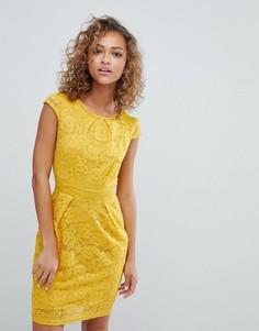 Кружевное платье-тюльпан QED London - Желтый
