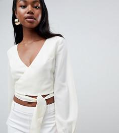 Блузка с запахом и завязками Parallel Lines - Кремовый