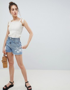 Джинсовые шорты с вышивкой Pimkie - Синий