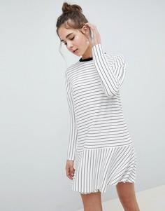 Свободное платье мини в полоску ASOS DESIGN - Мульти