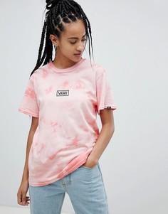 Розовая футболка с принтом тай-дай Vans - Оранжевый