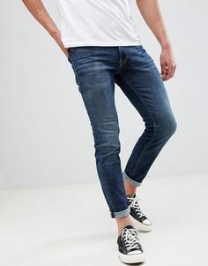 Синие джинсы скинни с отворотами Jack & Jones - Синий