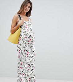 Платье макси с цветочным принтом Mamalicious - Мульти Mama.Licious