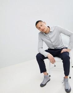 Приталенная трикотажная рубашка Jack & Jones Premium - Серый