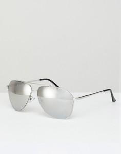 Серебристые солнцезащитные очки‑авиаторы Jeepers Peepers - Серебряный
