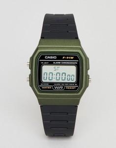 Цифровые силиконовые часы Casio F-91WM-3AEF - Черный