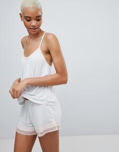 Пижама с топом и шортами Hunkemoller - Серый