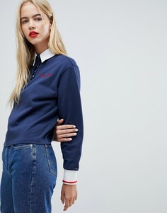 Рубашка регби с логотипом Tommy Jeans - Темно-синий
