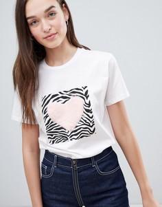 Белая футболка с принтом ASOS DESIGN - Белый