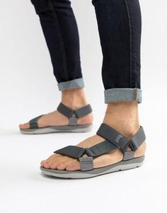 Серые сандалии с ремешками Camper - Серый
