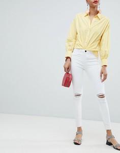 Рваные джинсы скинни River Island Molly - Белый