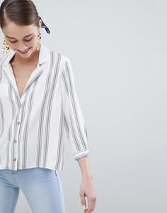 Рубашка в пижамном стиле New Look - Белый