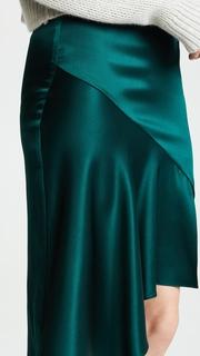 Cushnie Et Ochs Silk Skirt with Cascade Hem