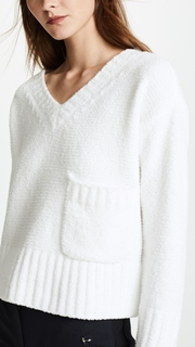 ATM Anthony Thomas Melillo Chenille V Neck Sweater