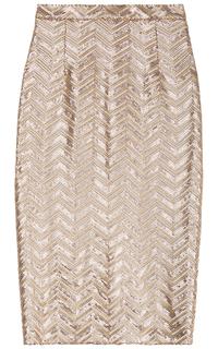 юбка-карандаш с декором из пайеток La Reine Blanche