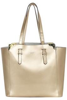 Золотистая сумка из натуральной кожи Tosca BLU