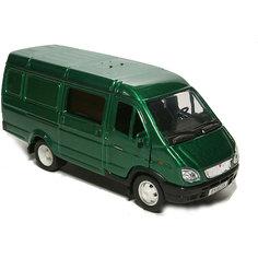 Машинка Autotime Газель Комби, 1:43, зеленая