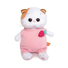 Мягкая игрушка Budi Basa Кошка Ли-Ли Baby в розовом комбинезоне с клубничкой, 20 см