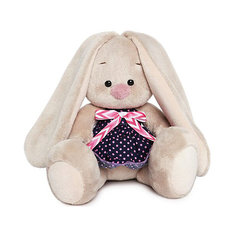 Мягкая игрушка Budi Basa Зайка Ми в платье в горошек, 15 см