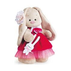 Мягкая игрушка Budi Basa Зайка Ми в платье цвета калины, 25 см