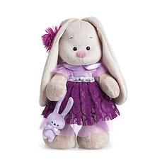 Мягкая игрушка Budi Basa Зайка Ми в платье цвета сливы, 25 см
