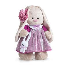 Мягкая игрушка Budi Basa Зайка Ми в платье цвета вишни, 25 см