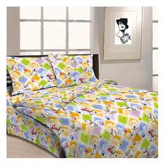 Детское постельное белье 3 предмета Letto, Белые мишки с шариками