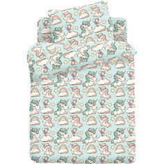 Детское постельное белье 3 предмета Кошки-мышки, Единорожки