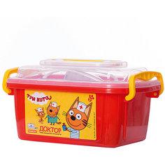 """Игровой набор Полесье """"Три кота. Доктор"""", в белом контейнере с котом"""