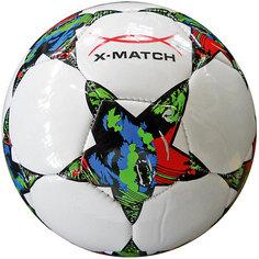 Мяч футбольный X-Match, 2 слоя PVC, машин.обр., в ассорт.