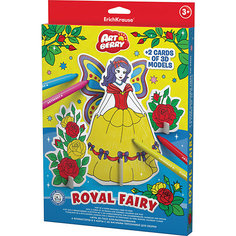 Erich Krause Игровой 3D пазл для раскрашивания Artberry Royal Fairy (6 фломастеров+2 карты с фигурами для сборки)