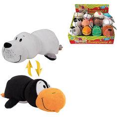 Мягкая игрушка-вывернушка 1toy Пингвин - Морской котик, 20 см