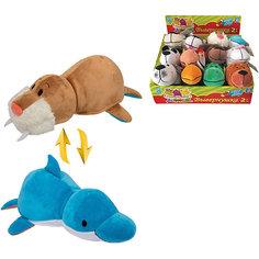 Мягкая игрушка-вывернушка 1toy Морж - Дельфин, 20 см