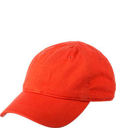 Красная хлопковая бейсболка Lacoste