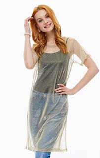 Прозрачная трикотажная туника-блуза Ichi