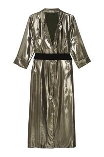 Платье цвета металлик Laroom
