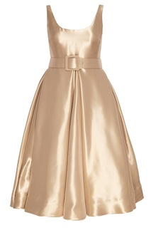 Платье из золотистой органзы Alexander Terekhov