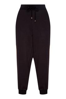 Черные брюки с бежевыми лампасами Sport Angel