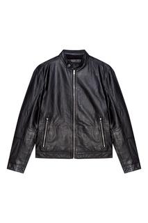 Кожаная куртка на молнии Calvin Klein