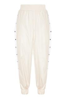 Бежевые брюки с лампасами Sport Angel