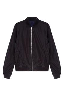Легкая черная куртка на молнии Calvin Klein