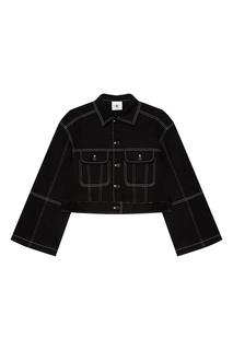 Черная хлопковая куртка Daily Paper