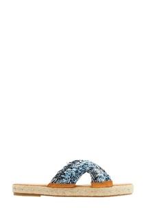 Сандалии с джинсовым плетением RED Valentino