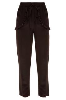 Черные шелковые брюки RED Valentino