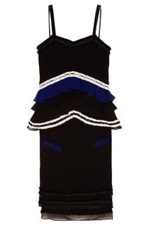 Шелковое платье с оборками Proenza Schouler